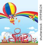 balloon in the amusement park | Shutterstock .eps vector #195958124