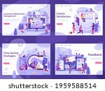 online business concept banners ...