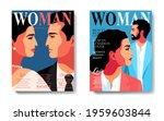 two variants of magazine cover...   Shutterstock .eps vector #1959603844