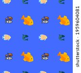 different styles fish pattern...   Shutterstock . vector #1959604081