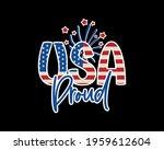trendy patriotic quote. usa... | Shutterstock .eps vector #1959612604