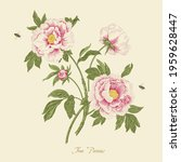 vintage vector botanical floral ...   Shutterstock .eps vector #1959628447