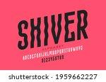 shiver style font design ... | Shutterstock .eps vector #1959662227