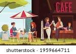 restaurant patio outdoor area...   Shutterstock .eps vector #1959664711