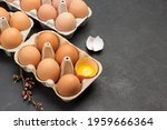 Brown Chicken Eggs In Carton...