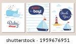 Set Of Nautical Theme Baby...