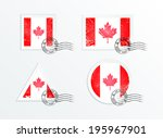 stamps with the image of the... | Shutterstock .eps vector #195967901