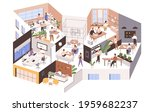 inside large office with... | Shutterstock .eps vector #1959682237