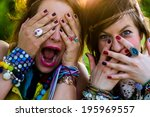 festival people   young woman... | Shutterstock . vector #195969557