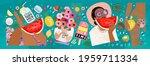 summer  vector illustration of... | Shutterstock .eps vector #1959711334