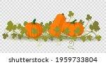 vector pumpkin illustration on... | Shutterstock .eps vector #1959733804
