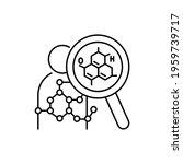 biochemistry color line icon....   Shutterstock .eps vector #1959739717