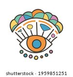 colorful eye talisman as an... | Shutterstock .eps vector #1959851251