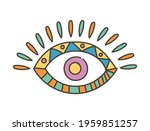 colorful eye talisman as an... | Shutterstock .eps vector #1959851257