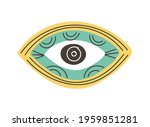 colorful eye talisman as an... | Shutterstock .eps vector #1959851281