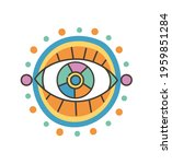 colorful eye talisman as an... | Shutterstock .eps vector #1959851284