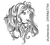 monochrome illustration of lion ... | Shutterstock .eps vector #1959867754