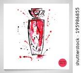 watercolor illustration of... | Shutterstock .eps vector #195986855