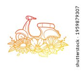 scooter rose flower with... | Shutterstock .eps vector #1959879307