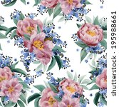 seamless floral pattern with... | Shutterstock .eps vector #195988661