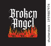 broken angel slogan print with... | Shutterstock .eps vector #1959887974