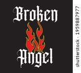 broken angel slogan print with... | Shutterstock .eps vector #1959887977