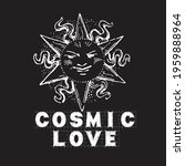 cosmic love slogan print for... | Shutterstock .eps vector #1959888964