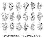 set of flowers bouquet.... | Shutterstock .eps vector #1959895771