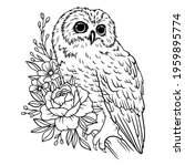 illustration of an owl on a... | Shutterstock .eps vector #1959895774