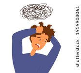 depressed  over stressed about...   Shutterstock .eps vector #1959903061