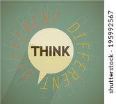 think different vector...   Shutterstock .eps vector #195992567