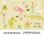 Funny Swamp Animals  Birds ...