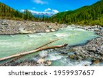 River In Mountain Valley...