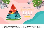 summer background template for... | Shutterstock .eps vector #1959948181