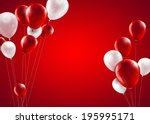 Festive Background With Red An...