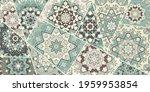 vector patchwork quilt pattern. ... | Shutterstock .eps vector #1959953854