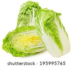 Chinese Cabbage On A White...