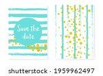 wedding pattern. turquoise... | Shutterstock .eps vector #1959962497