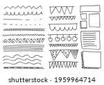 simple doodle set of lines ... | Shutterstock .eps vector #1959964714