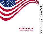 american flag | Shutterstock .eps vector #19599703