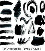 vector set of grunge artistic... | Shutterstock .eps vector #1959973357