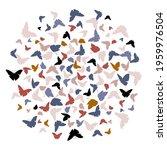 flying butterfly vector... | Shutterstock .eps vector #1959976504