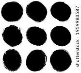 grungy  grunge textured circle  ... | Shutterstock .eps vector #1959983587
