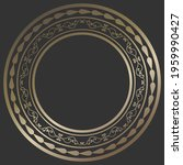 round bronze frame with... | Shutterstock .eps vector #1959990427