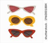fashion vector set sunglasses... | Shutterstock .eps vector #1960001884