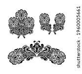 set of vintage baroque retro... | Shutterstock .eps vector #1960005661