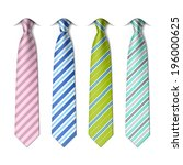 Striped Silk Ties Template. ...