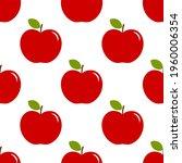 red apples seamless pattern....   Shutterstock .eps vector #1960006354