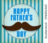 vector   happy father day... | Shutterstock .eps vector #196001465