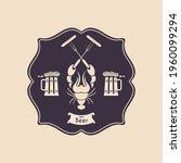 pub banner  brewery design ... | Shutterstock .eps vector #1960099294